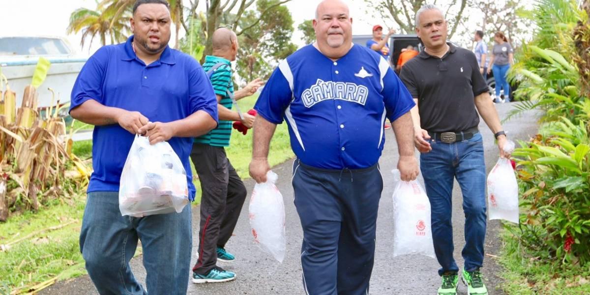 Cámara reparte hielo a comunidades afectadas por Irma