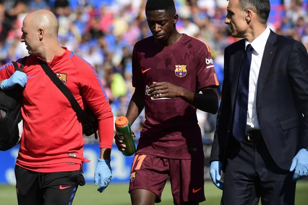 De baja entre tres y cuatro meses — Dembélé lesionado