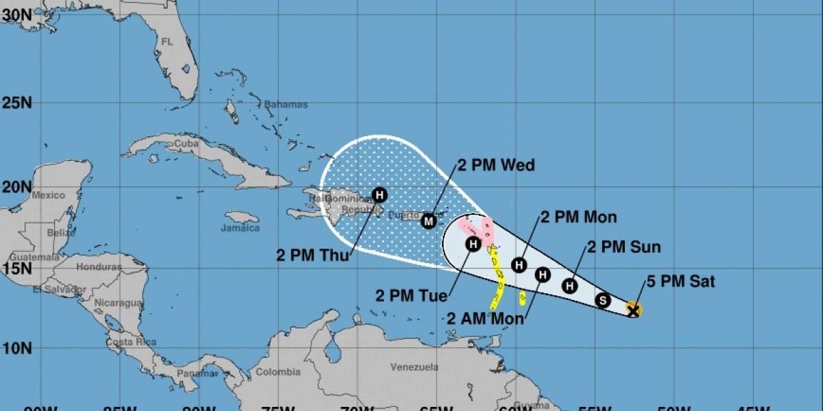 María se acerca a la región de Puerto Rico