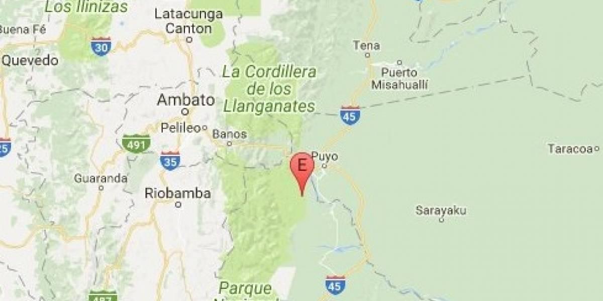 Temblor de magnitud 4,6 sacudió a Pastaza