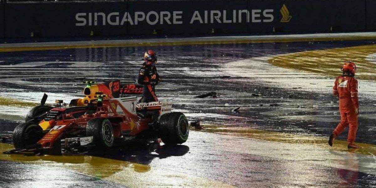 VIDEO. Así fue el dramático choque en el arranque del Gran Premio de Fórmula Uno de Singapur