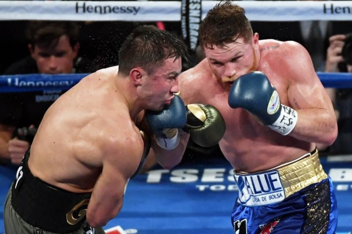Canelo y Golovkin brindaron una gran pelea (Foto: AFP)
