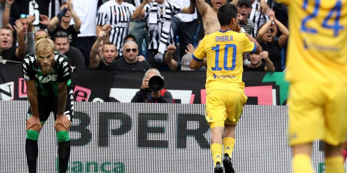 Guillermo Cuadrado hace pase gol para triplete del argentino Paulo Dybala