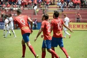 Gol de Municipal contra Malacateco