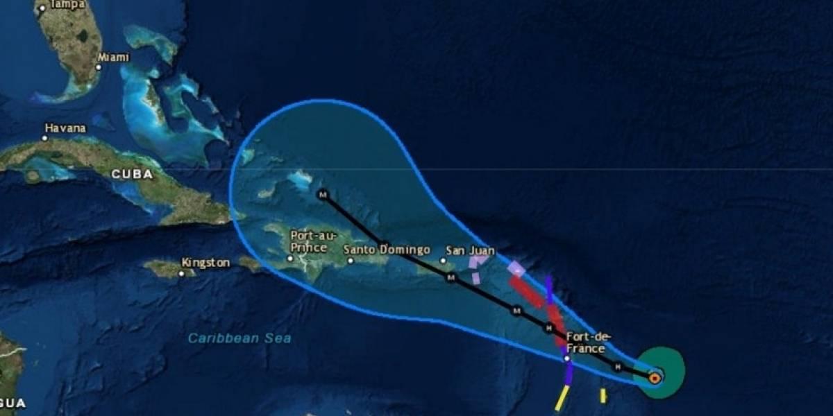 Tormenta tropical María se convirtió hoy en un huracán y se dirige al Caribe