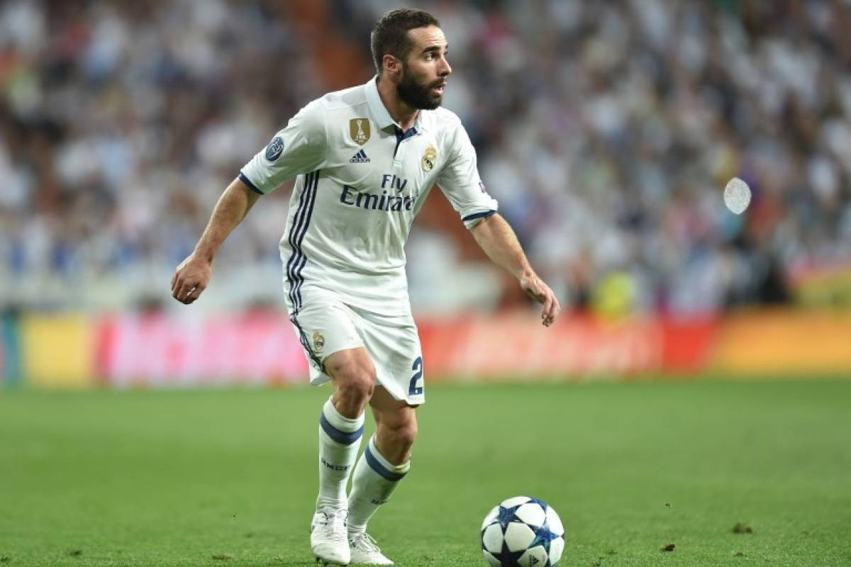 Dani Carvajal con el Real Madrid