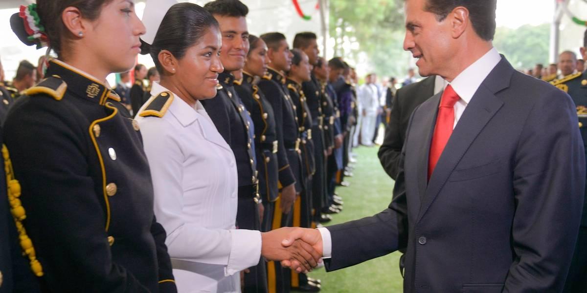 Fuerzas Armadas seguirán en Chiapas y Oaxaca hasta que estén de pie: Peña Nieto