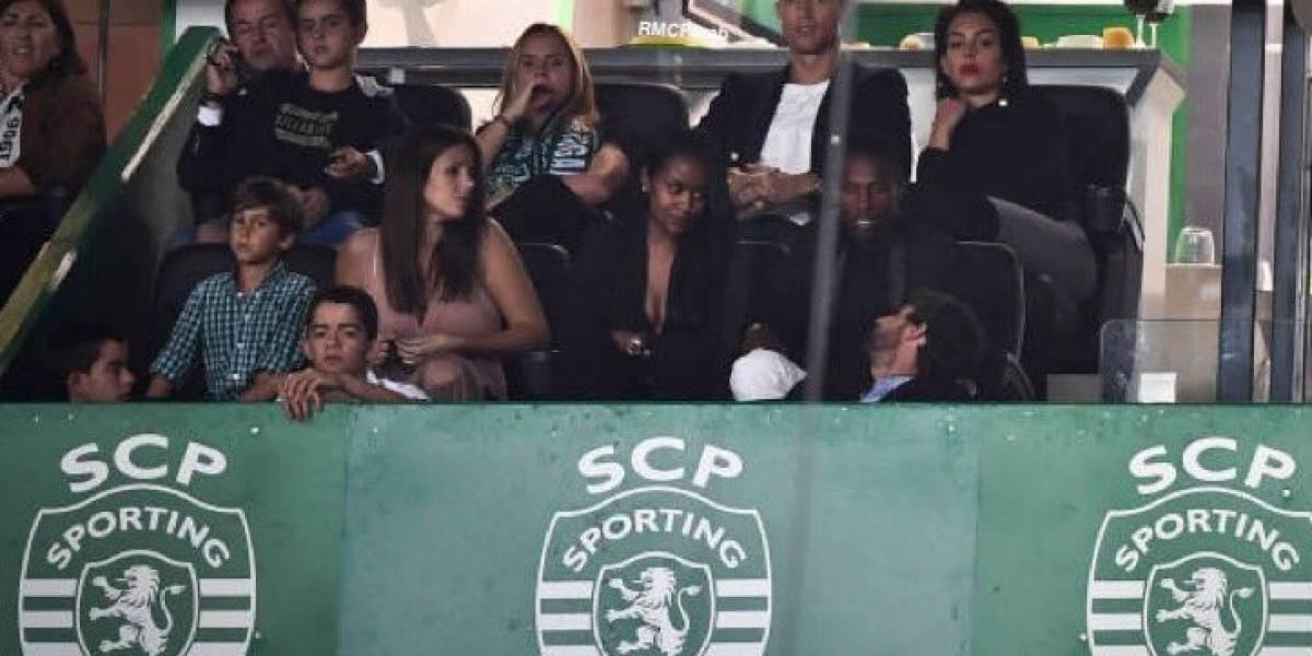 Cristiano vio desde palco al Sporting de Portugal