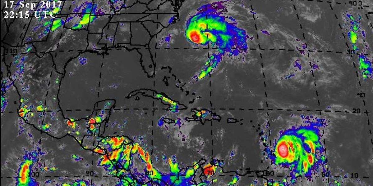 Mira las imágenes satelitales del huracán María