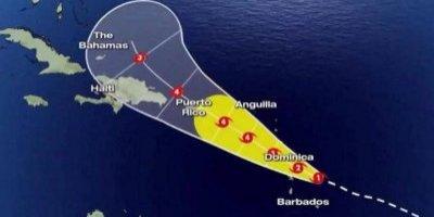 Dominicana comienza a sentir efectos del huracán María