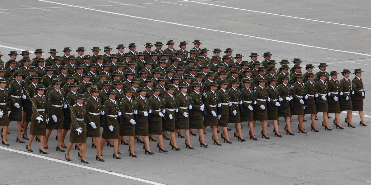 Última Parada Militar de Bachelet: sólo un 12% de las uniformadas serán mujeres