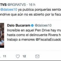 Tuits entre Ricardo Rivera y Dalo Bucaram