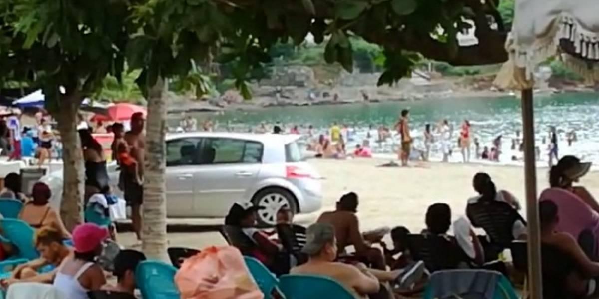 Usó playa de Taganga como parqueadero pese a que está prohibido