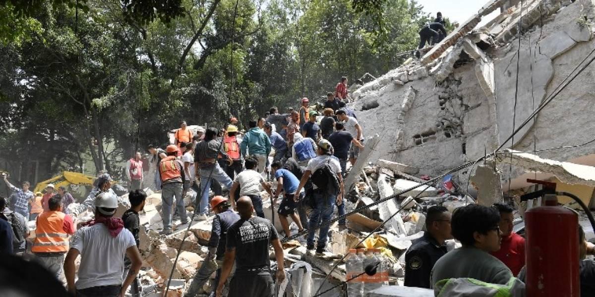Impactantes registros: Terremoto de 7,1 derriba edificios en la Ciudad de México