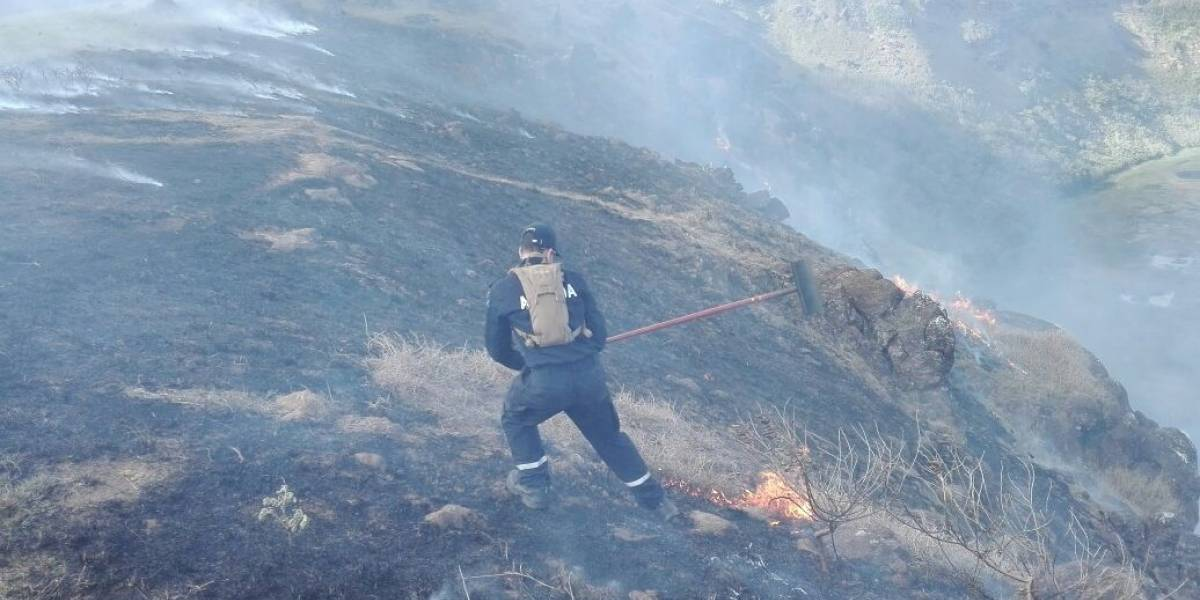 Acciones legales contra responsables: el complejo combate del incendio forestal que afecta a Isla de Pascua
