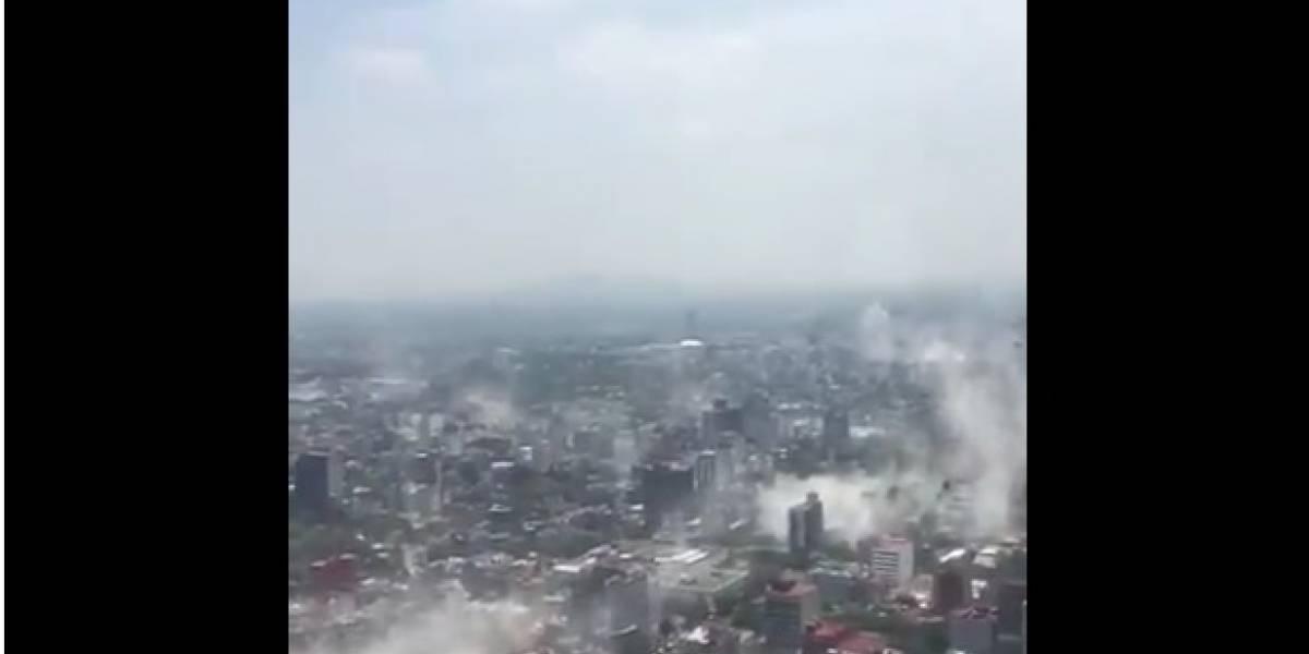 ¡Devastador! Esta es la vista aérea de Ciudad de México tras el terremoto