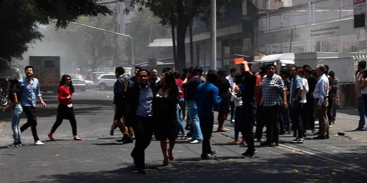 Las impactantes primeras imágenes del terremoto que sacudió nuevamente México este martes