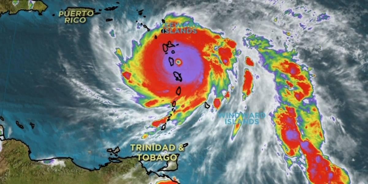 """Las lluvias """"infernales"""" del huracán María golpean Guadalupe tras devastar Dominica"""