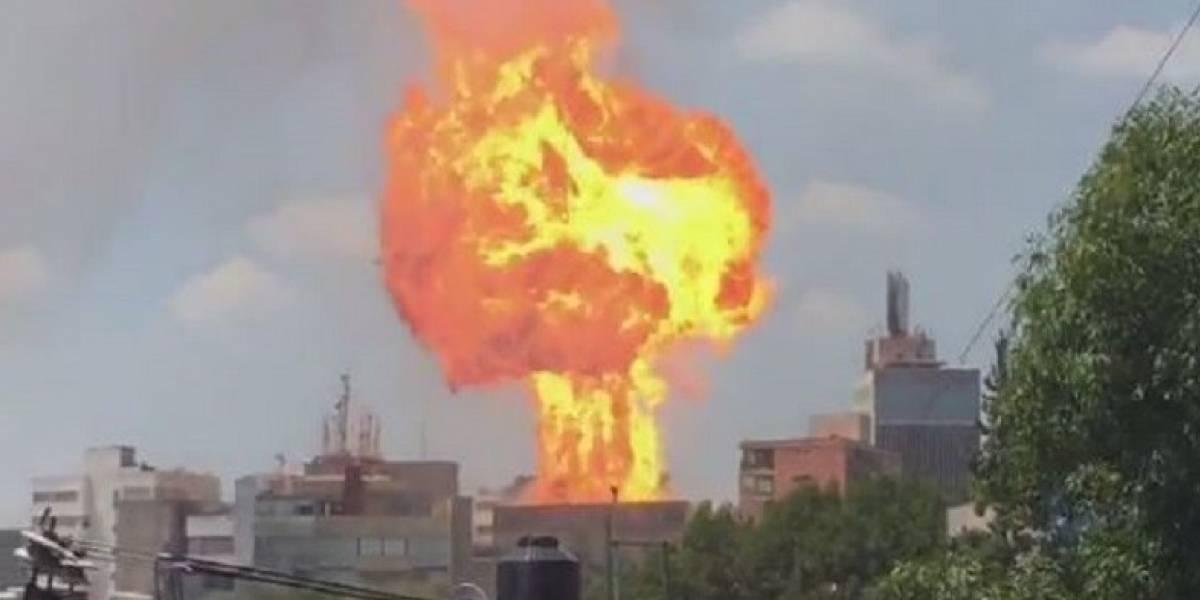 VIDEO. Derrumbe de edificio provocó fuerte explosión en México