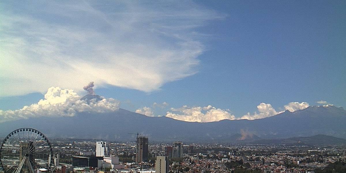 México: El terremoto provocó la erupción del volcán Popocatépetl