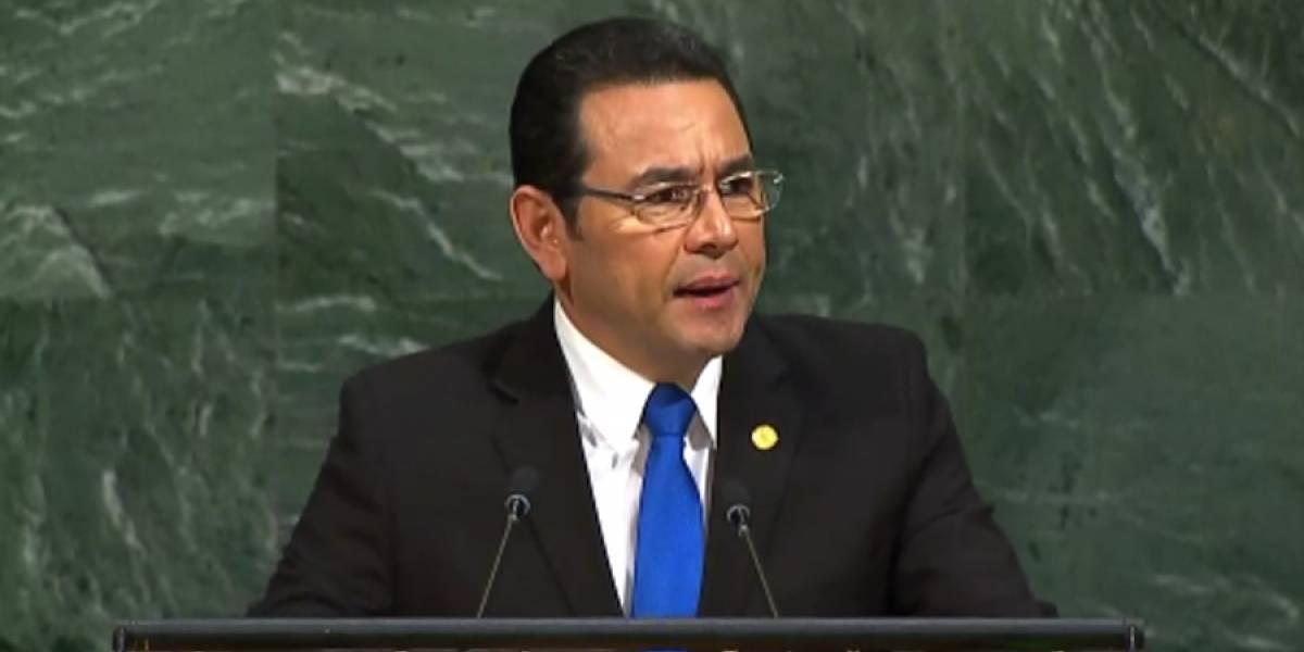 Morales dedica más de la mitad de su discurso para señalar a CICIG