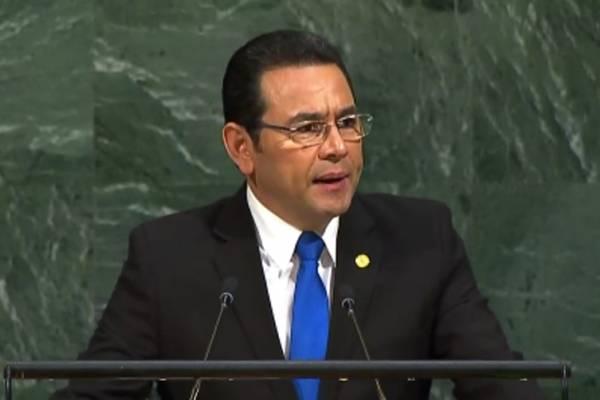 Jimmy Morales en Asamblea de la ONU
