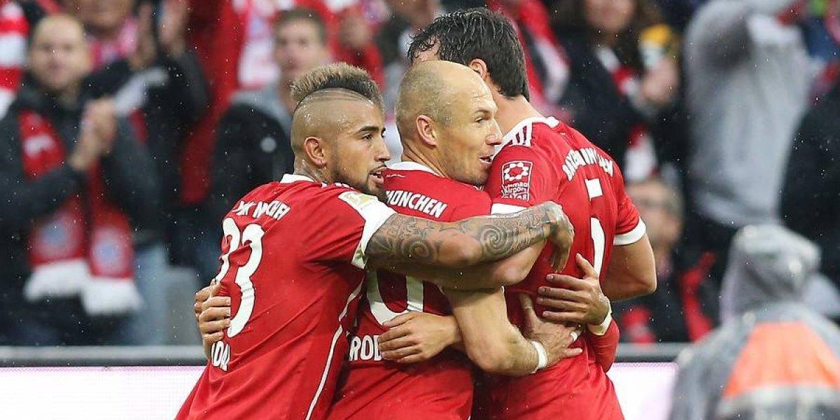 Minuto a Minuto: Arturo Vidal anota un golazo en la goleada del Bayern Munich ante Schalke 04