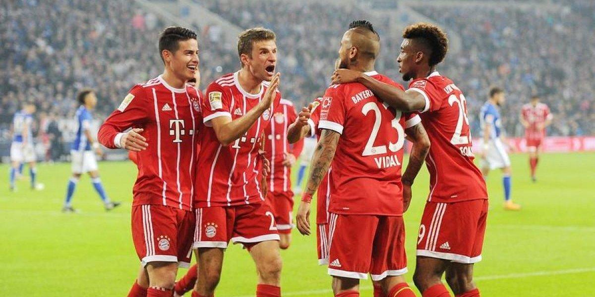 De la banca al gol: Arturo Vidal convirtió un golazo en victoria del Bayern Munich ante Schalke 04