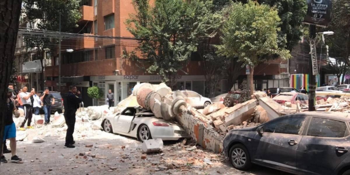 Terremoto en México: Videos de desprendimientos en varios edificios
