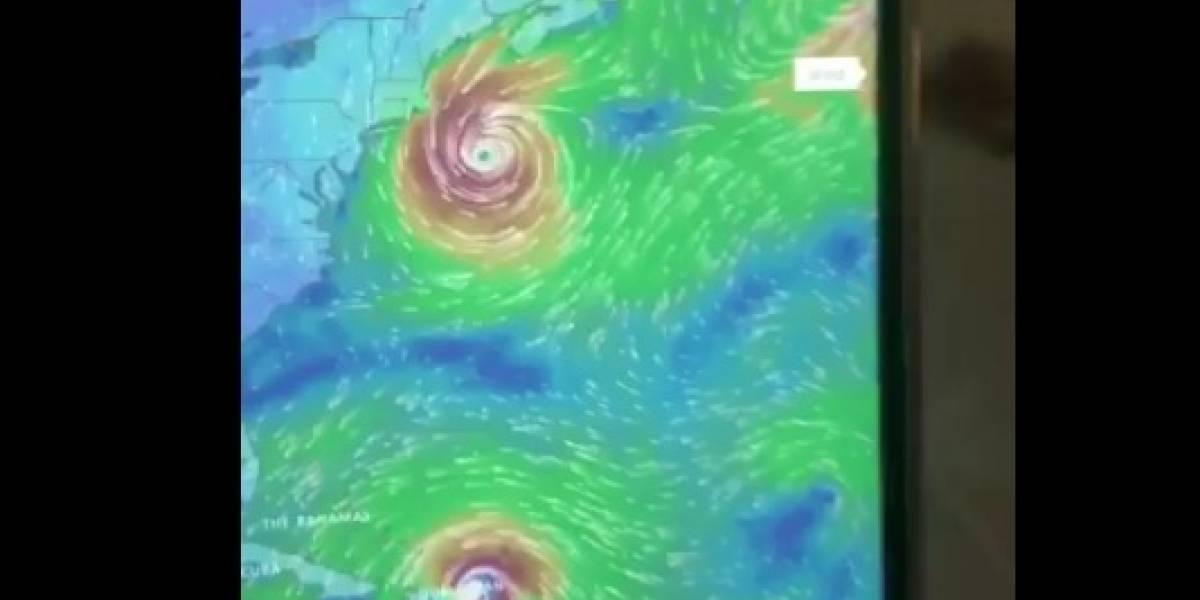 Así se unirían los poderosos huracanes María y José