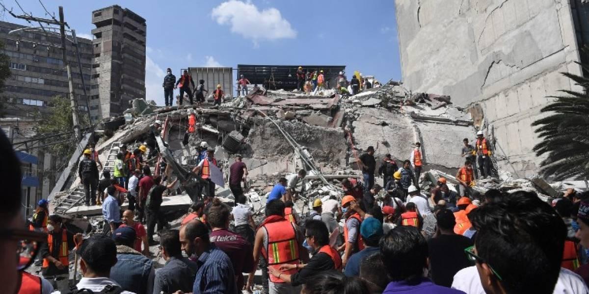 Vista aérea de la Ciudad de México tras el terremoto