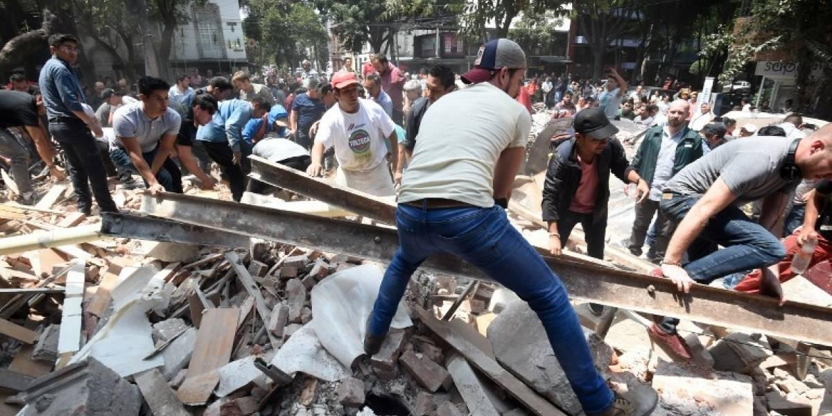 Edificios en el suelo y daños en la capital de México, Puebla y Morelos por terremoto 7,1