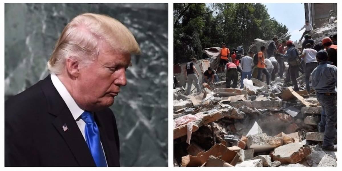 Trump envía un mensaje de solidaridad a México tras terremoto