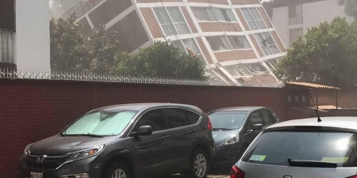 Impactantes videos de edificios derrumbándose durante terremoto en México