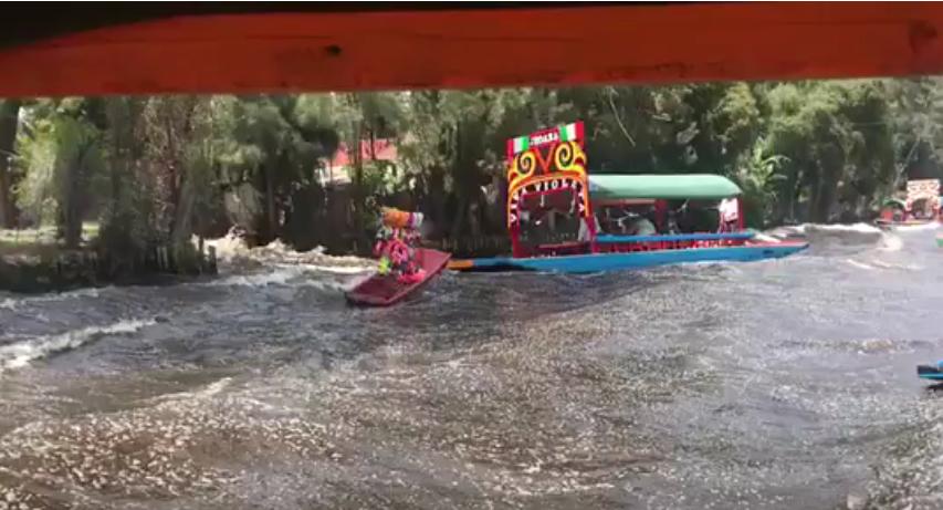 ¡Impresionante! Así se vivió el terremoto en río de Xochimilco