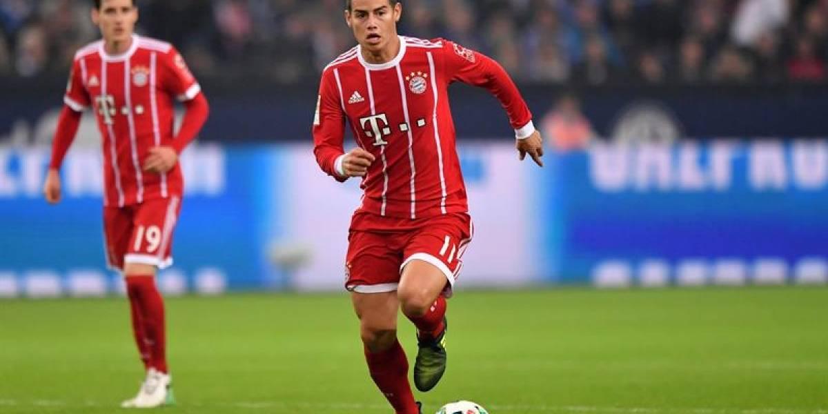 James Rodríguez se lesionó y no jugará la Copa de Alemania