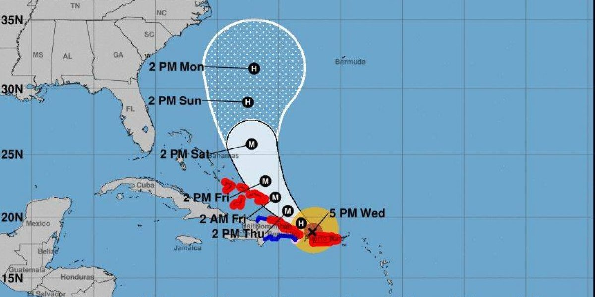Huracán María pasa hoy por R. Dominicana