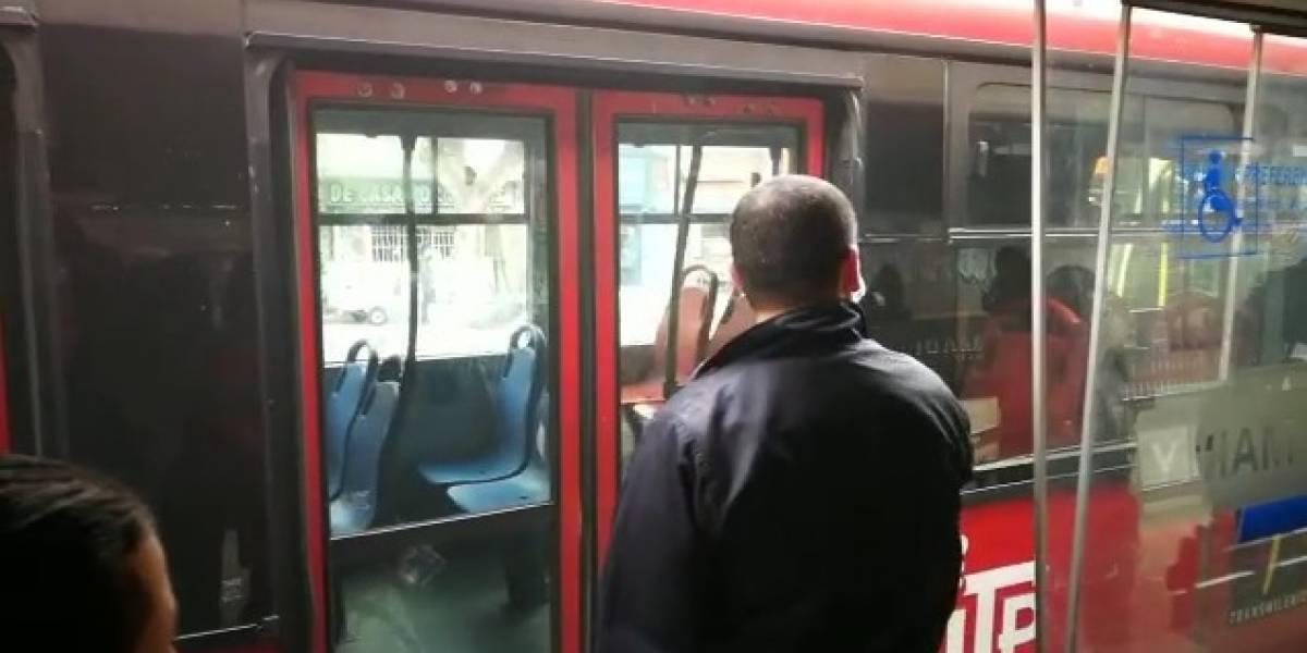 Nuevo incidente por fallas en un bus de TransMilenio