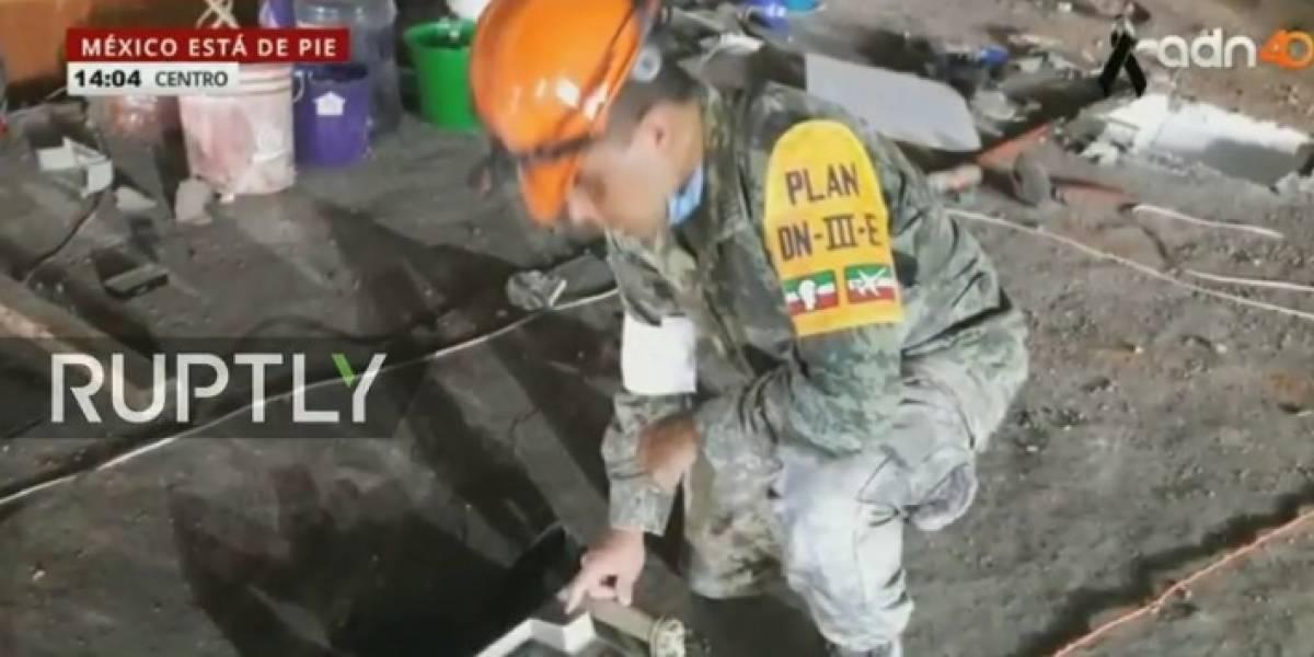 EN VIVO: Así se viven las operaciones de rescate tras sismo de 7.1 en México