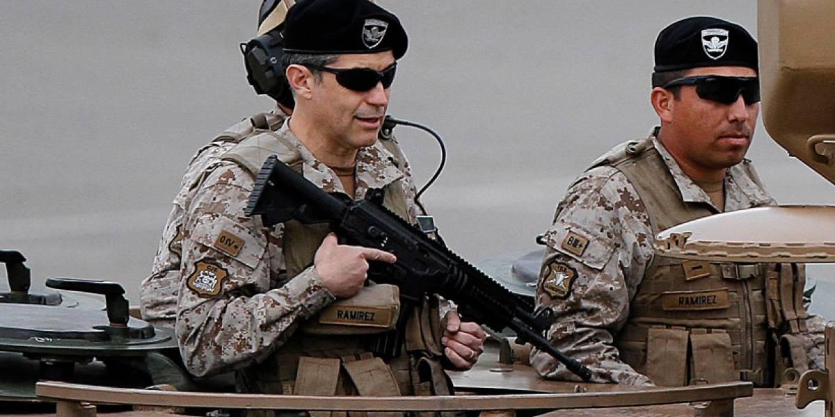 Polo Ramírez desfiló en la Parada Militar a bordo de un tanque