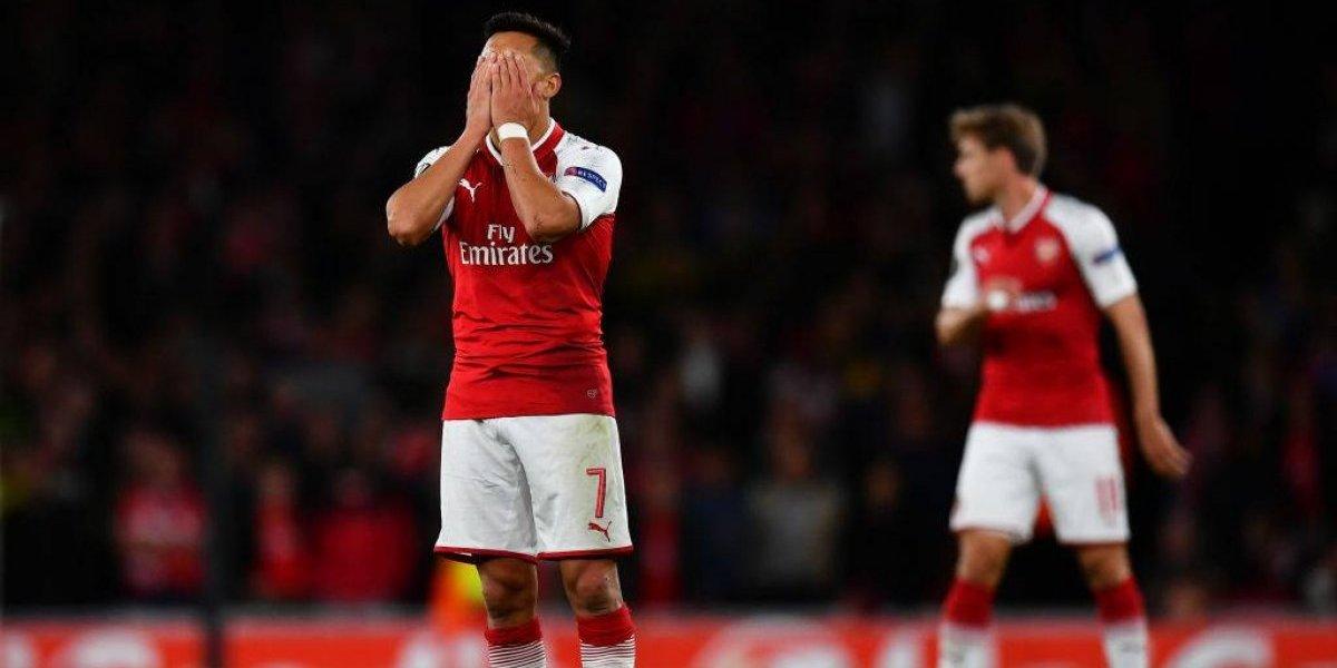 Alexis ni siquiera fue convocado a la banca del Arsenal ante el BATE por la Europa League