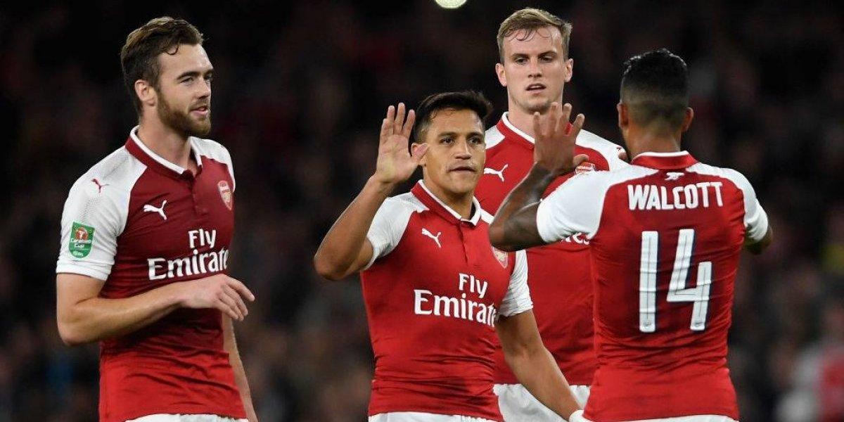 Alexis Sánchez volvió a maravillar y guió triunfo del Arsenal en la Copa de la Liga