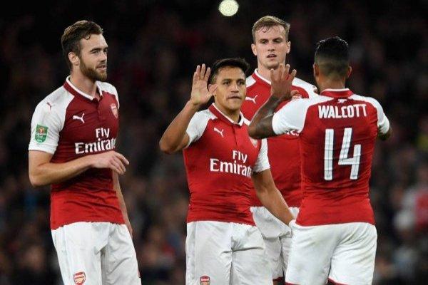 Alexis celebró con Arsenal / imagen: Getty Images