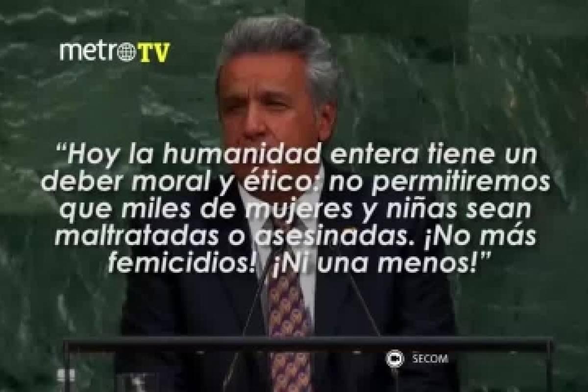 10 Frases Que Resumen La Intervención De Lenín Moreno Ante