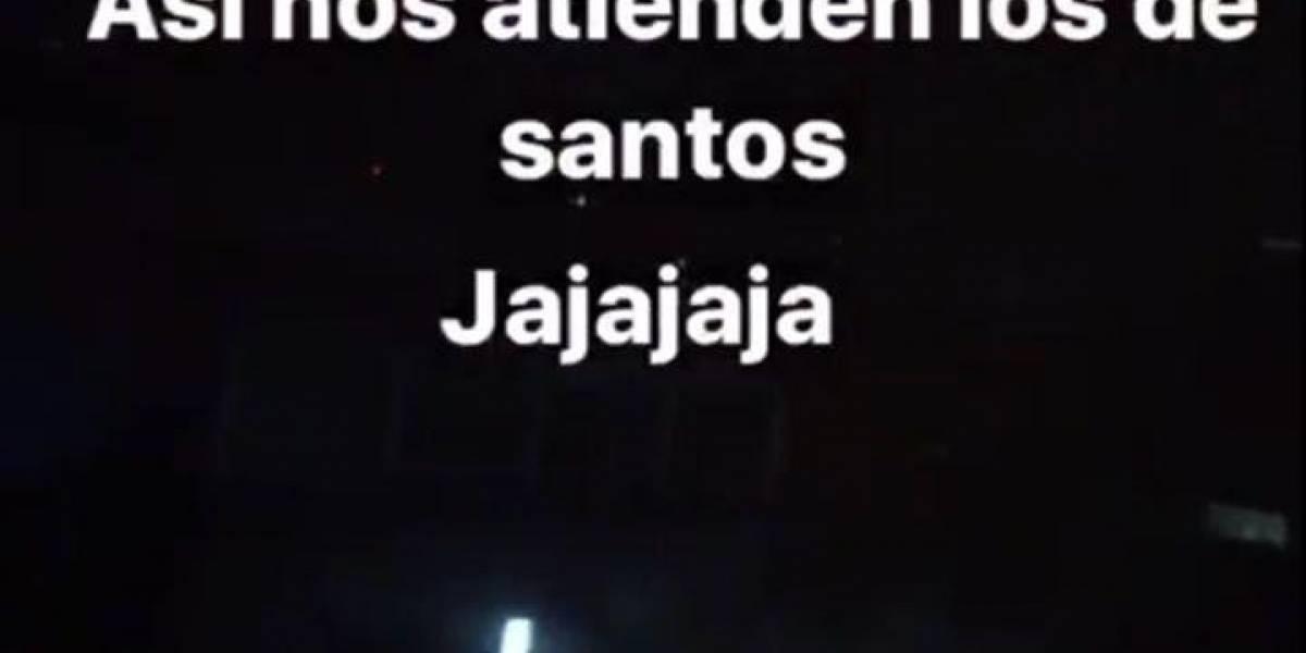 Hinchas de Santos no dejaron dormir a jugadores de Barcelona SC
