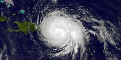 Huracán María sobre el Caribe