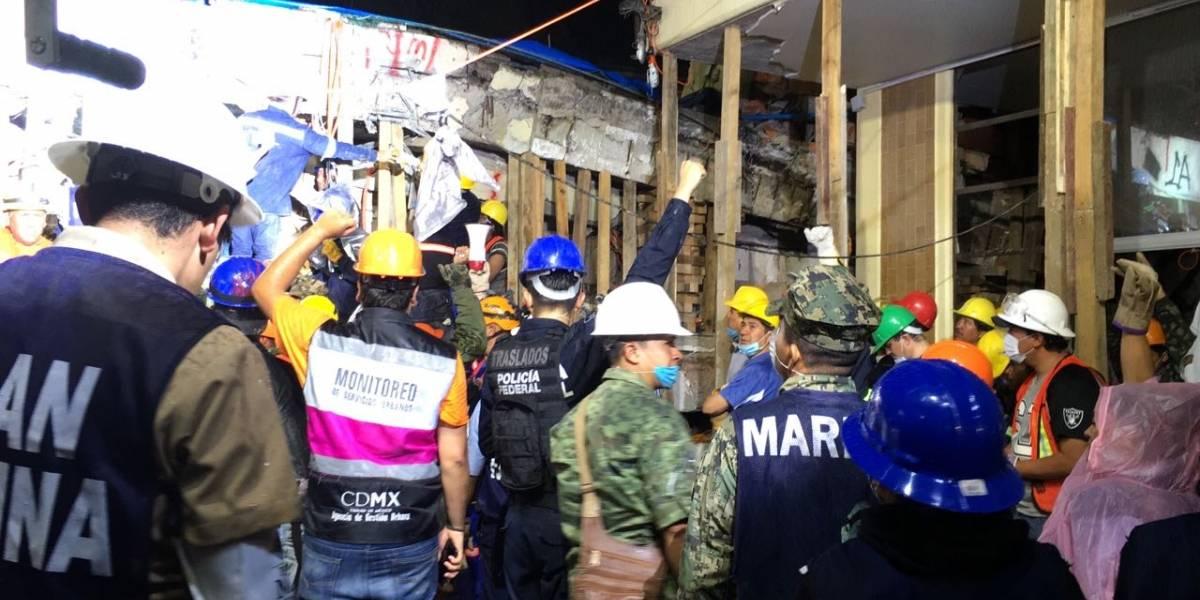 Frida Sofía no se encontraba en el piso tres del Enrique Rébsamen, sino en el dos: rescatistas