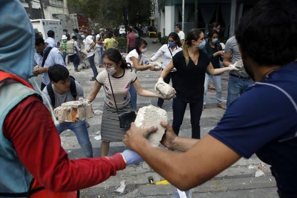 cadenas de ayuda sismo en méxico