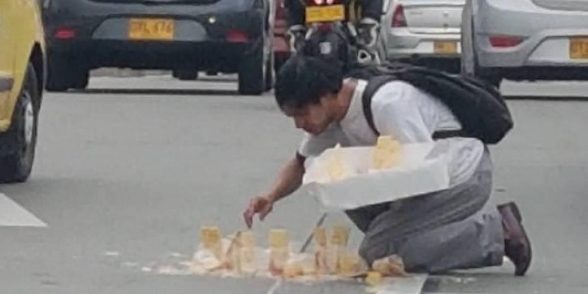Así genera lastima 'lagrimón' para estafar ingenuos en las calles de la capital