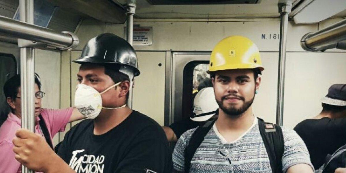Metro de Ciudad de México es gratuito para los rescatistas del terremoto